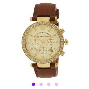 Accessories - Michael Kors Women's Parker Leather Watch